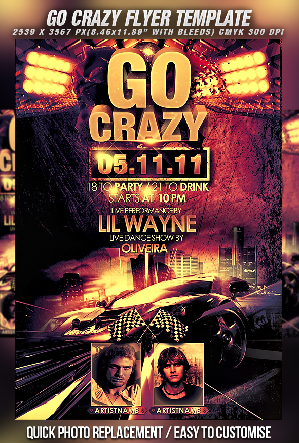 PSD Go Crazy Flyer Template By Retinathemes ...