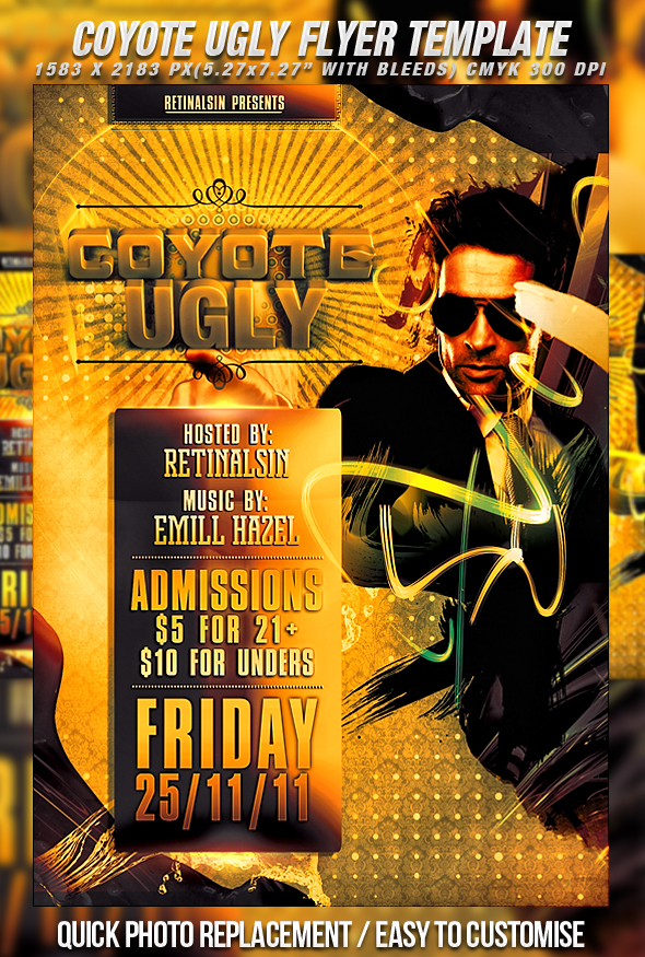 PSD Coyote Ugly Flyer Template by retinathemes