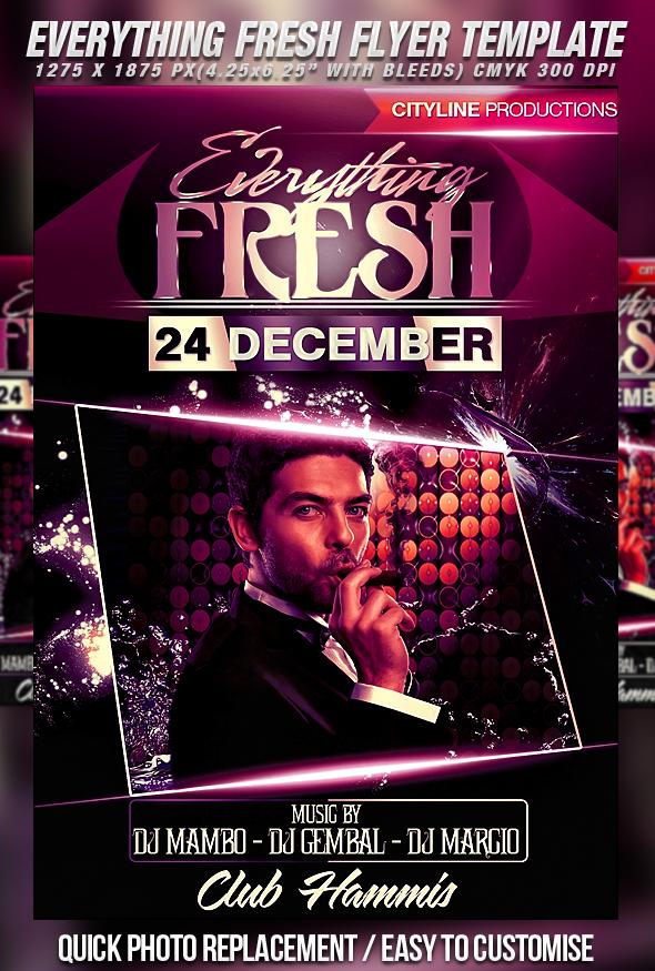 PSD Everything Fresh Flyer by retinathemes