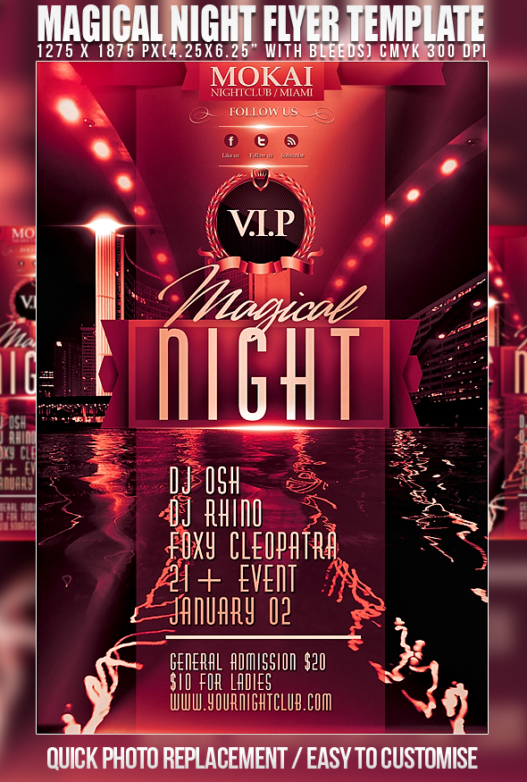 Psd Magical Night Flyer Template By Retinathemes On Deviantart