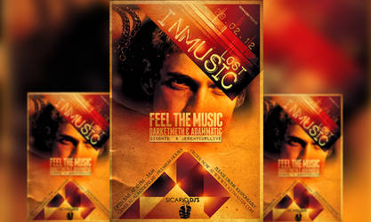 PSD Lost In Music Flyer Template by retinathemes