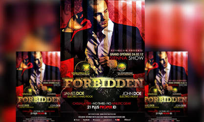 PSD Forbidden Flyer Template by retinathemes