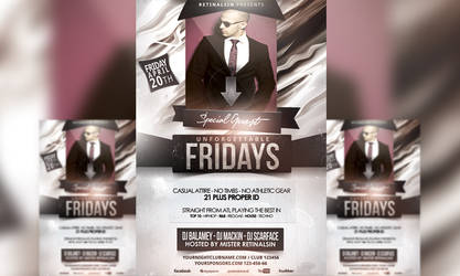 PSD U.Fridays Flyer Template by retinathemes