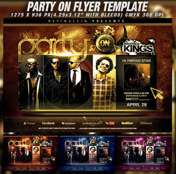 PSD Party On Flyer Template by retinathemes
