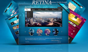 PSD Retina Multipurpose Web Templates