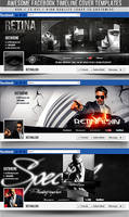 PSD Awesome Facebook Timeline Covers 3in1