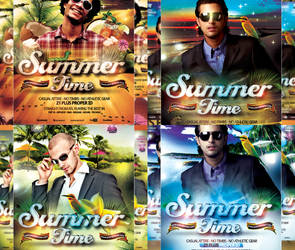 PSD Summer Flyer Series - 4in1 - High Quality by retinathemes