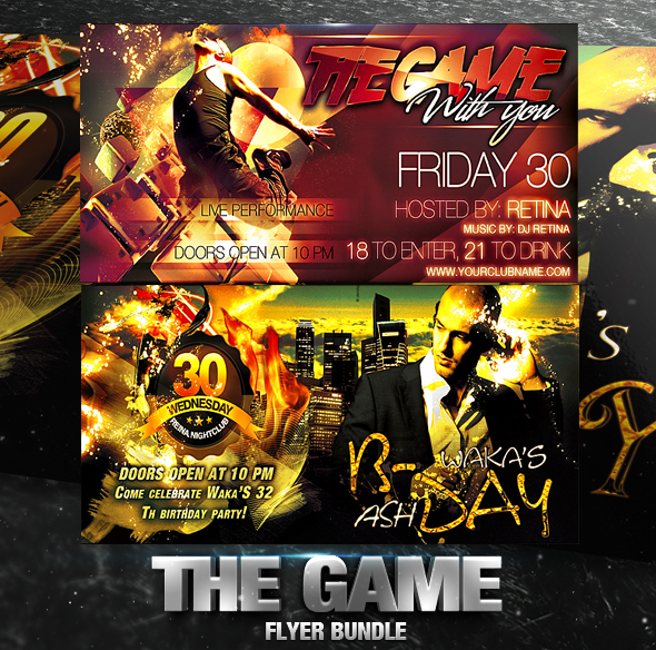 PSD The Game Flyer Bundle - 2in1 by retinathemes on DeviantArt