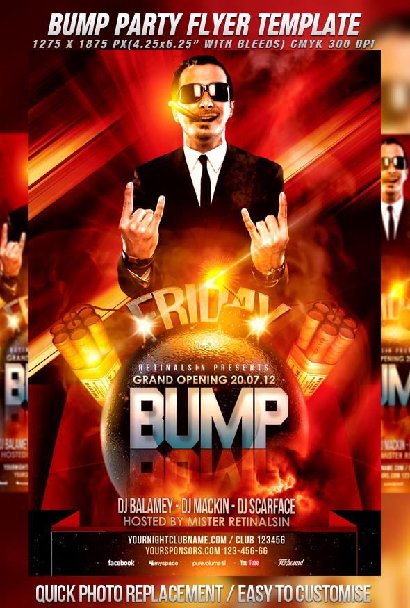 PSD Bump Party Flyer Template by retinathemes on DeviantArt