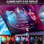 PSD Glamour Party Flyer Template