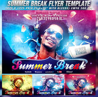 PSD Summer Break Flyer Template by retinathemes