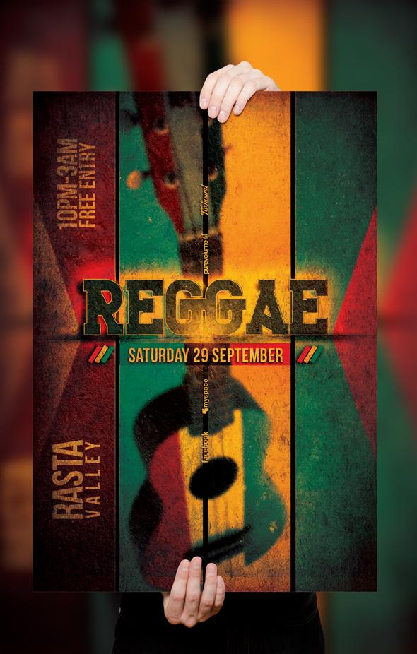 PSD Reggae Poster / Flyer Template v.2 by retinathemes
