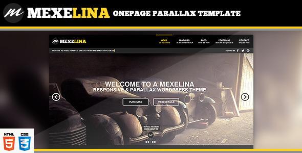 Mexelina - Onepage Creative Portfolio Template by retinathemes
