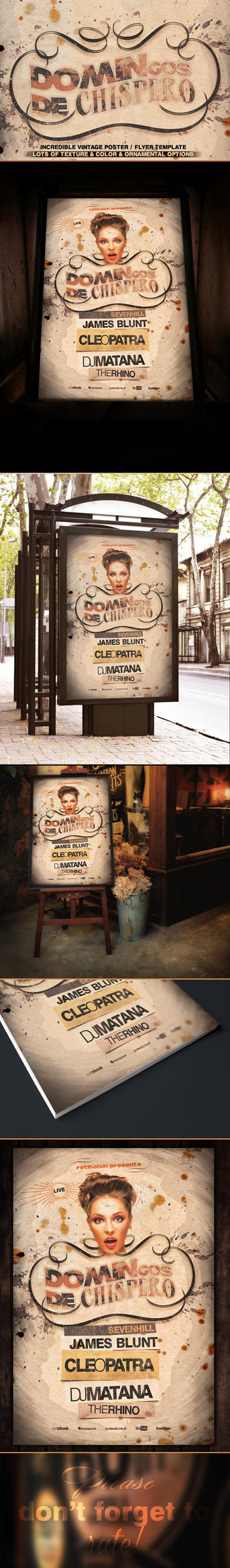 Vintage Poster / Flyer Template by retinathemes