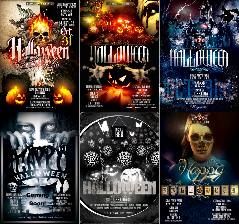 PSD Halloween Flyer Templates by retinathemes on DeviantArt