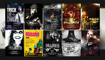 Halloween Posters [PSD]