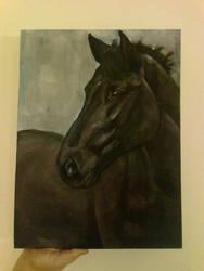 Unicornio WIP acrylics
