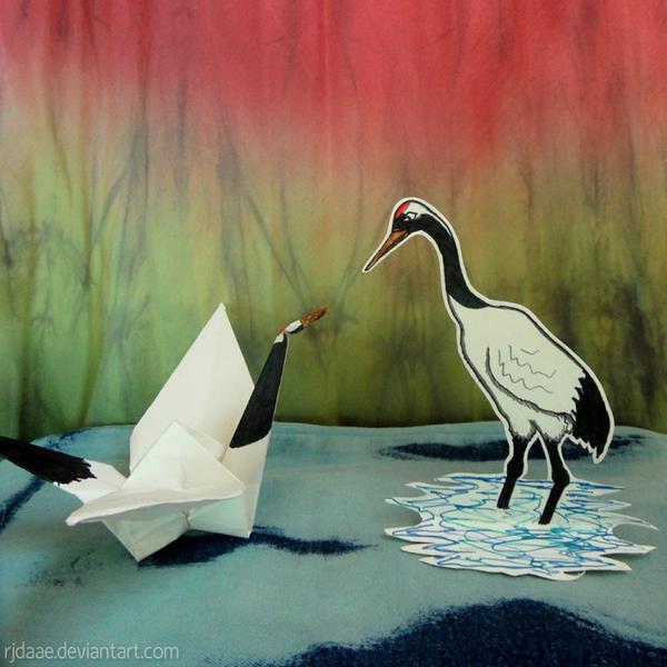 Paper Cranes by RJDaae