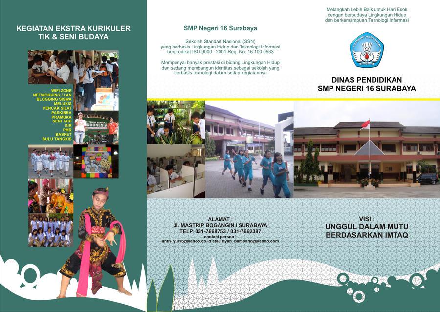 Brosur SMPN 16 Surabaya by ayom52