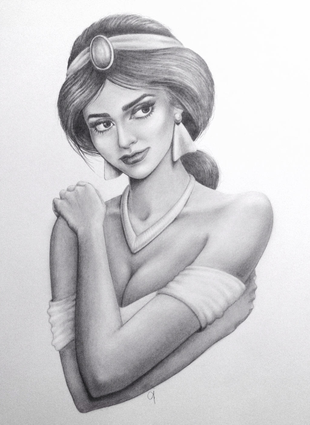 Princess jasmine pencil drawing www imgkid com the