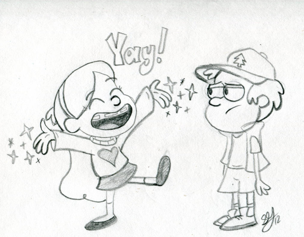 Dipper and Mabel by CreepECrawlyMan