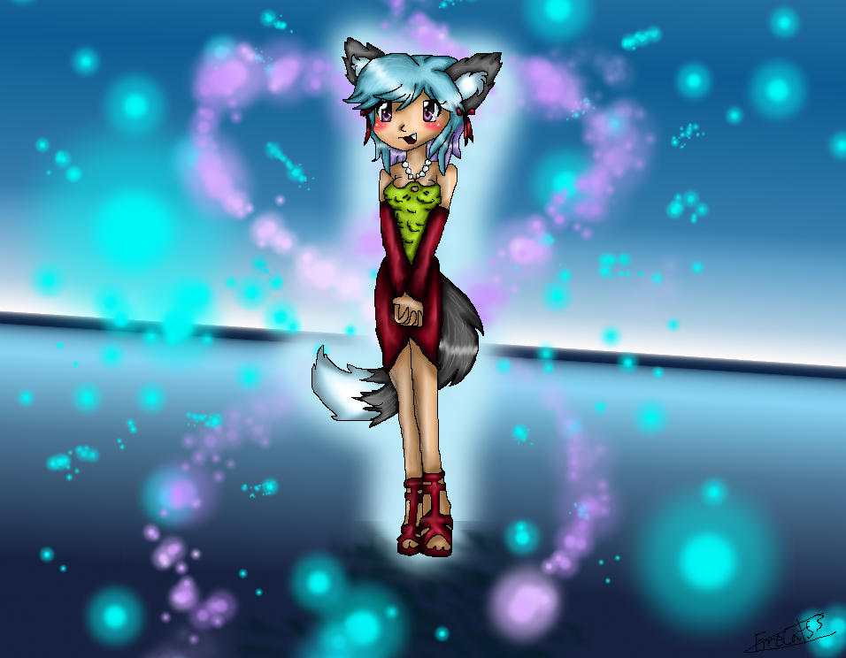 Kawii The Wolf Girl by FireCats3