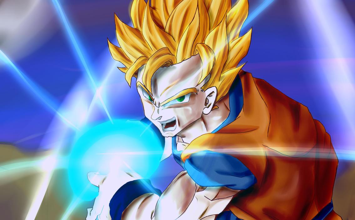 SSJ2 Goku Speedpaint by smsjgoku