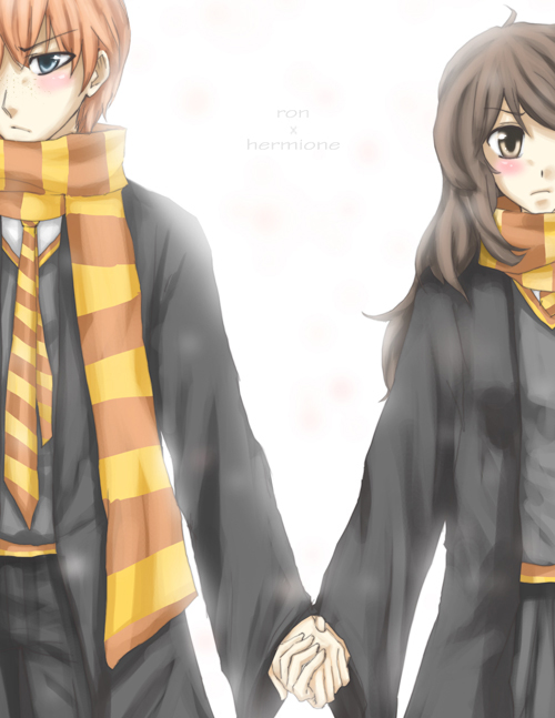 hp - ron and hermione by urusai-baka