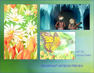 Triumph Artbook Preview by urusai-baka
