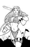 Red Sonja by Aev-art - Inks