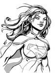 Supergirl by Marc-F-Huizinga - Inks