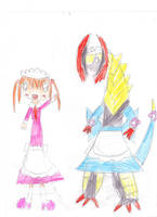 Marcus and  Maid Haxorus by OriLance97