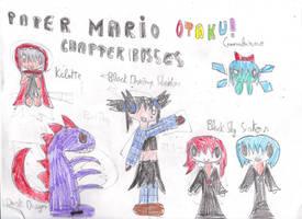 Paper Mario Otaku Chapter Bosses by OriLance97