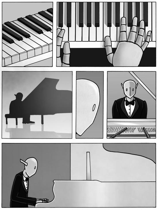 White Keys (1) by Pierre-Blondin