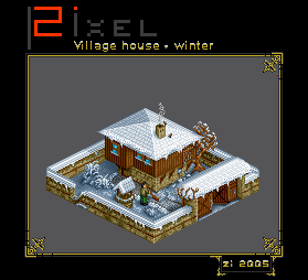 Winter_village_house by zi-
