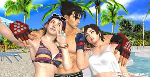 Tekken - Asuka, Jin, Miharu