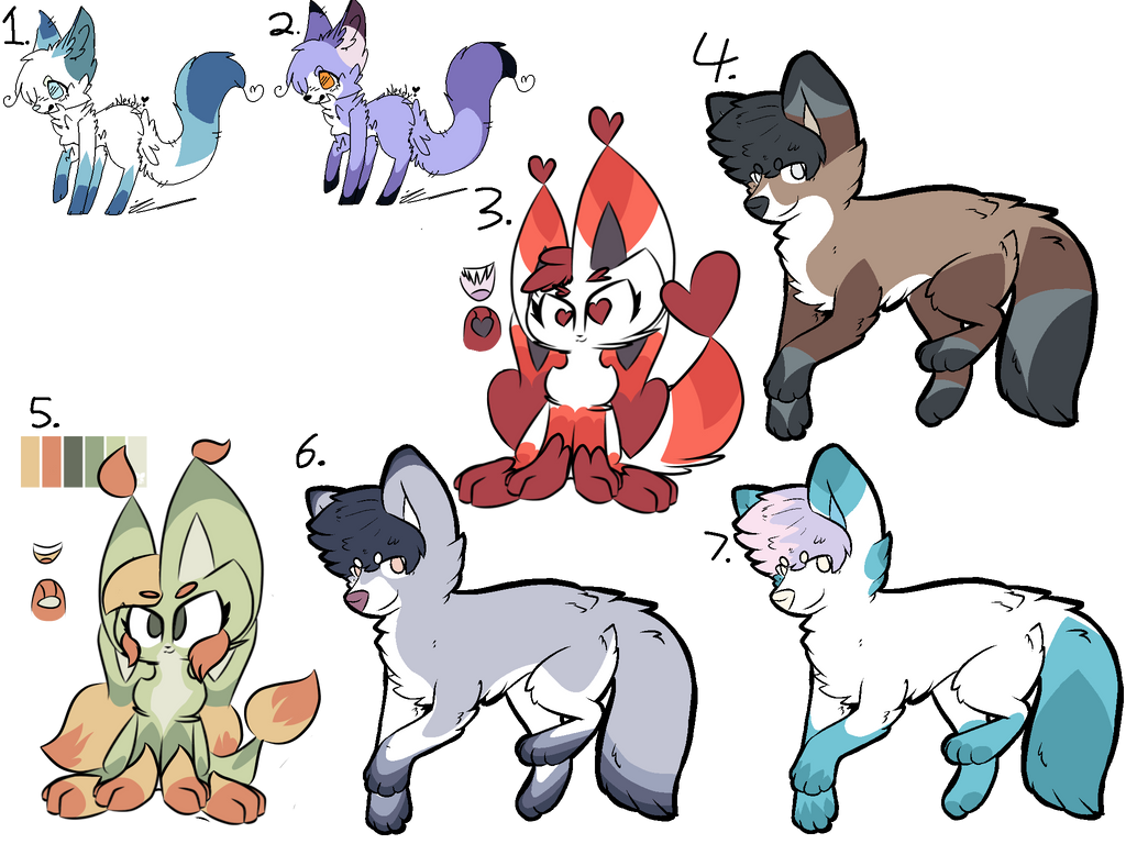 Leftover adopts! (5/7 OPEN!) by Perma-Fox