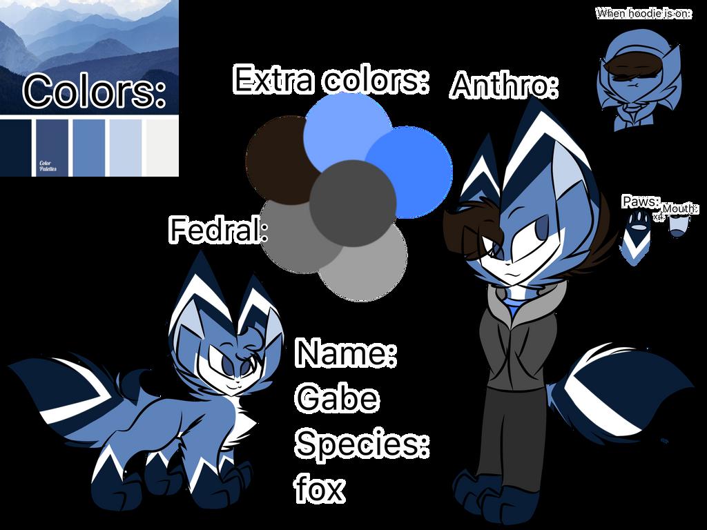 Gabe the fox (my bf fursona oc-) by Perma-Fox