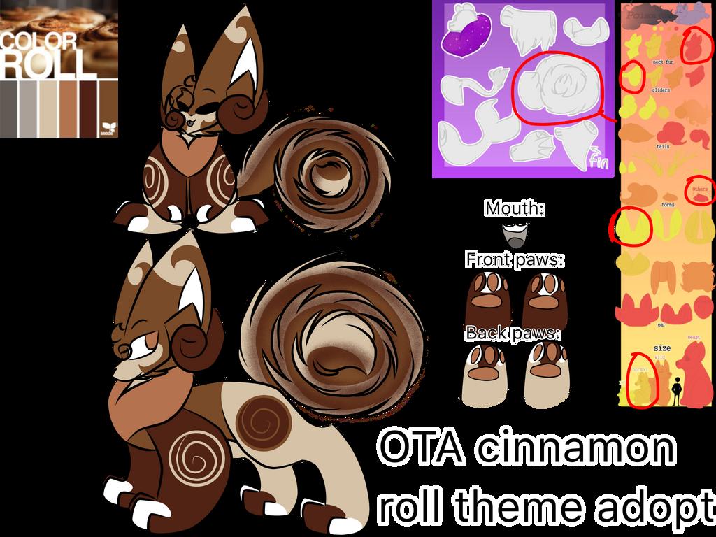 PoisonGlider cinnamon roll theme OTA (CLOSED!) by Perma-Fox