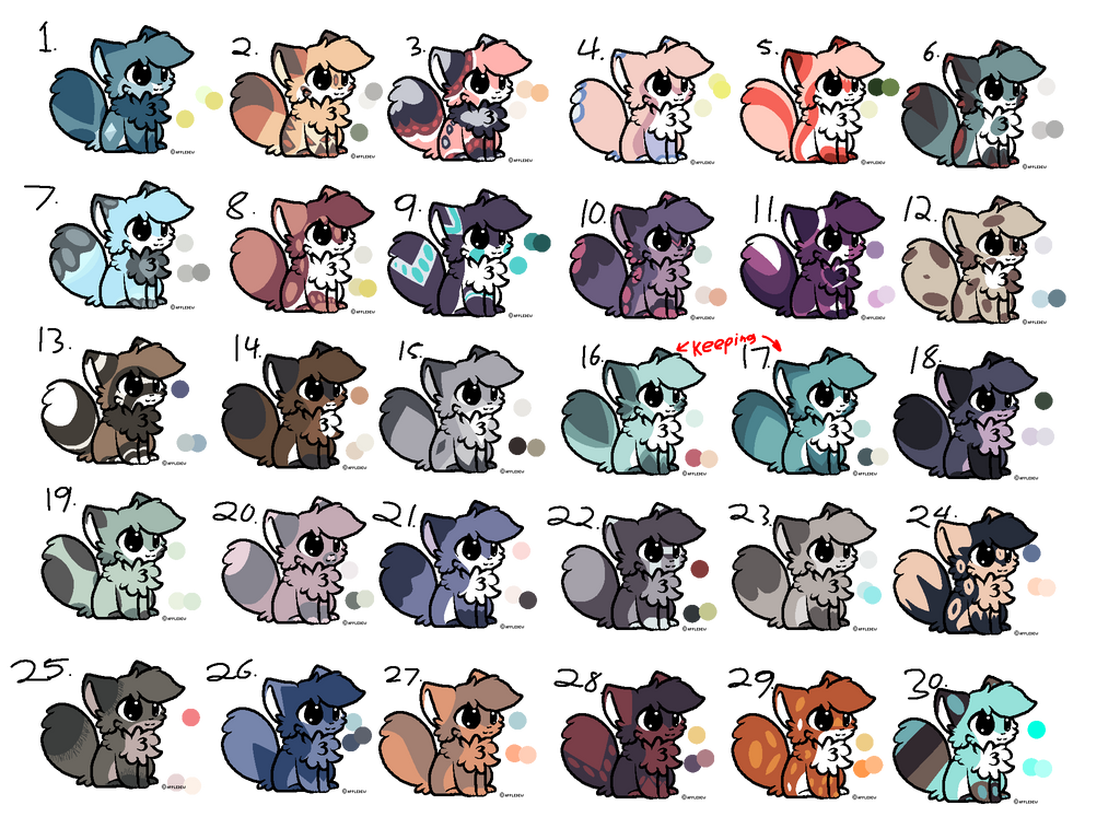 Huge fluffy cats adopts! (23/30 OPEN)(PLEASE ADOPT by Perma-Fox