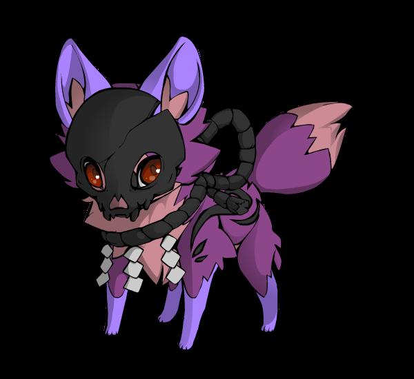 dark/light purple fox adopt! 15 points by Perma-Fox