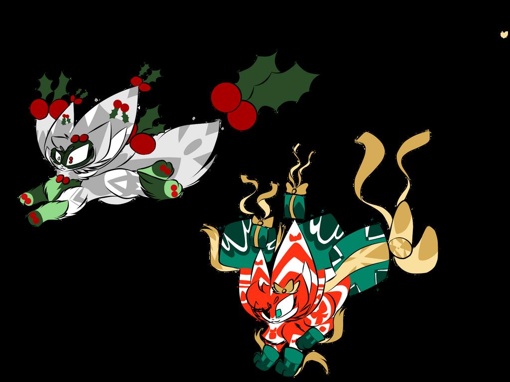 Christmas Flingleens adoptable! (KEEPING BOTH) by Perma-Fox