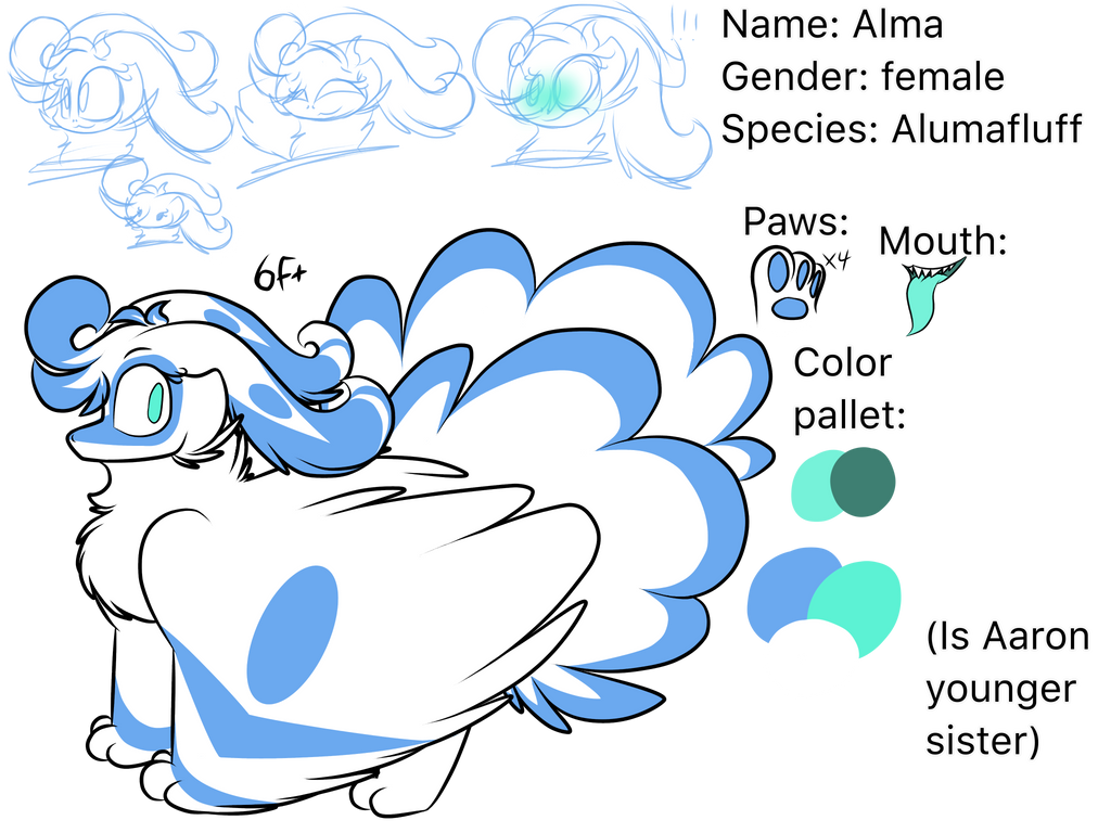 Alma the tiny Alumafluff(MYO) by Perma-Fox