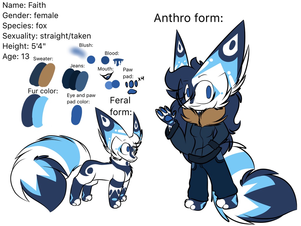 Faith reference ( FURSONA REDESIGN) by Perma-Fox