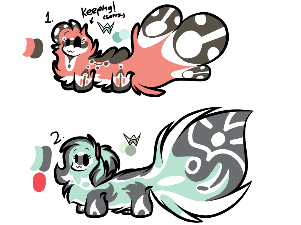Female floofmons adopt! (1/2 OPEN) by Perma-Fox