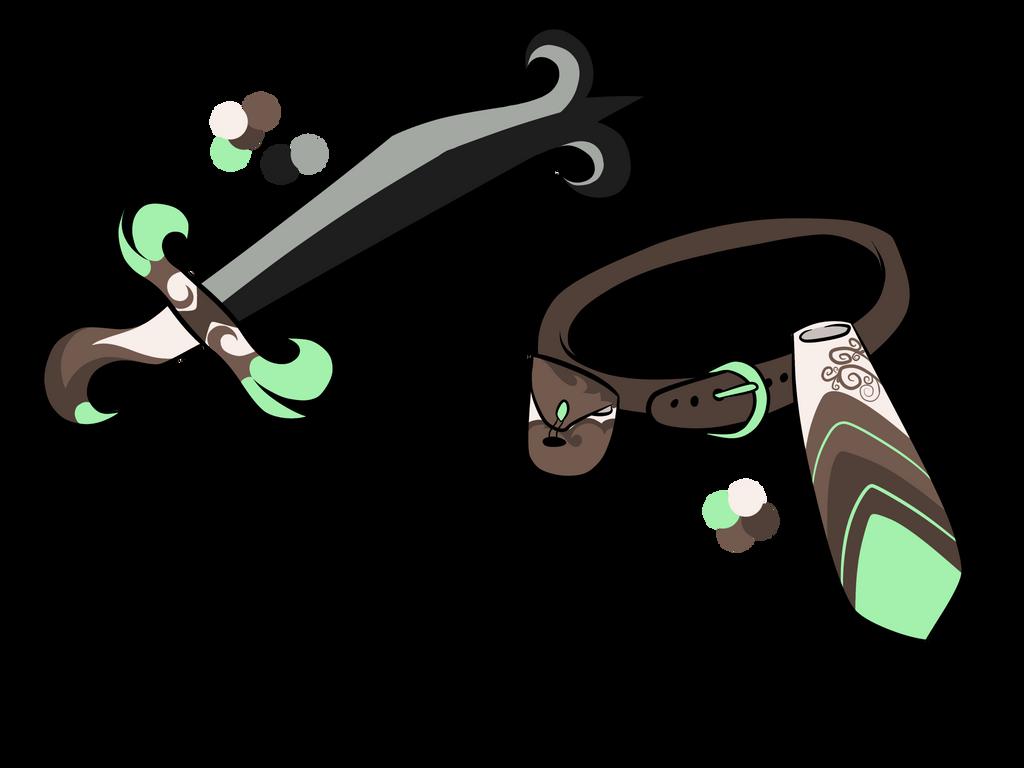 Irmin sword and belt design uwu by Perma-Fox