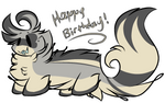 HAPPY LATE DAY OF BIRTH by Perma-Fox