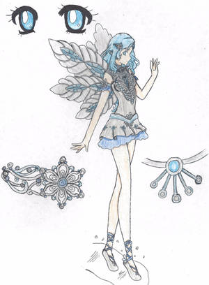 Fairy Guardian Lady Eira (Colored) by Yukina-Snowbunny