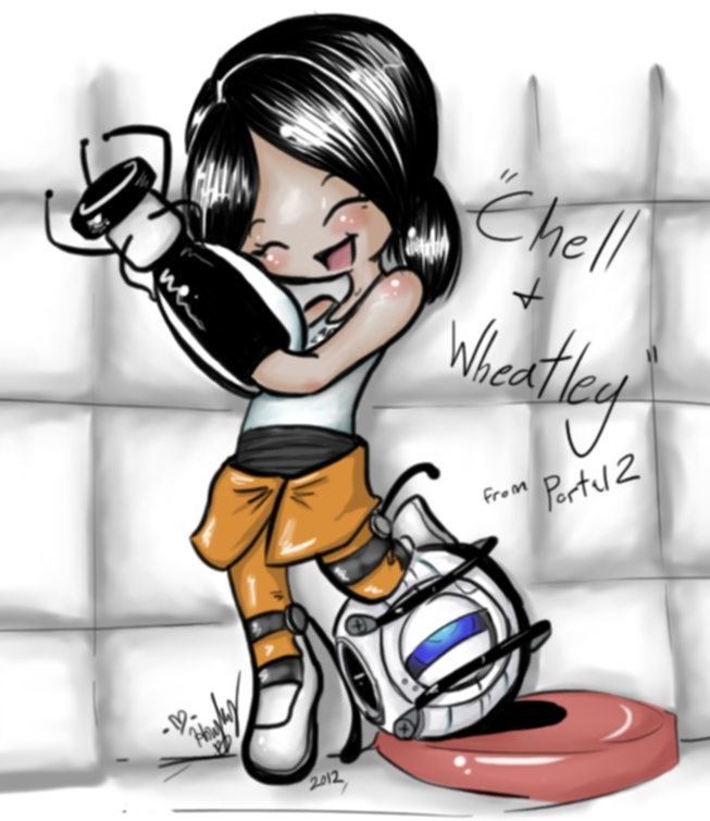 Chell and Wheatley by The-real-Vega777