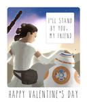 Star Wars 7 Valentine Card (Rey and BB-8)